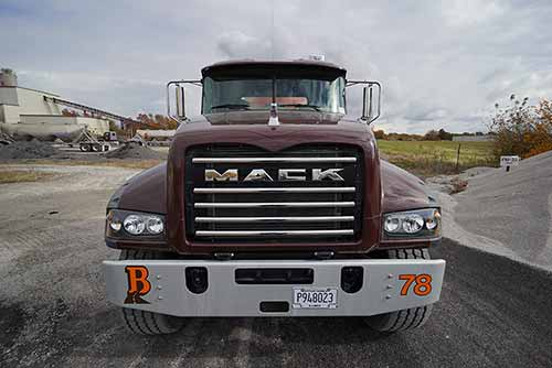 Front of Mack Truck